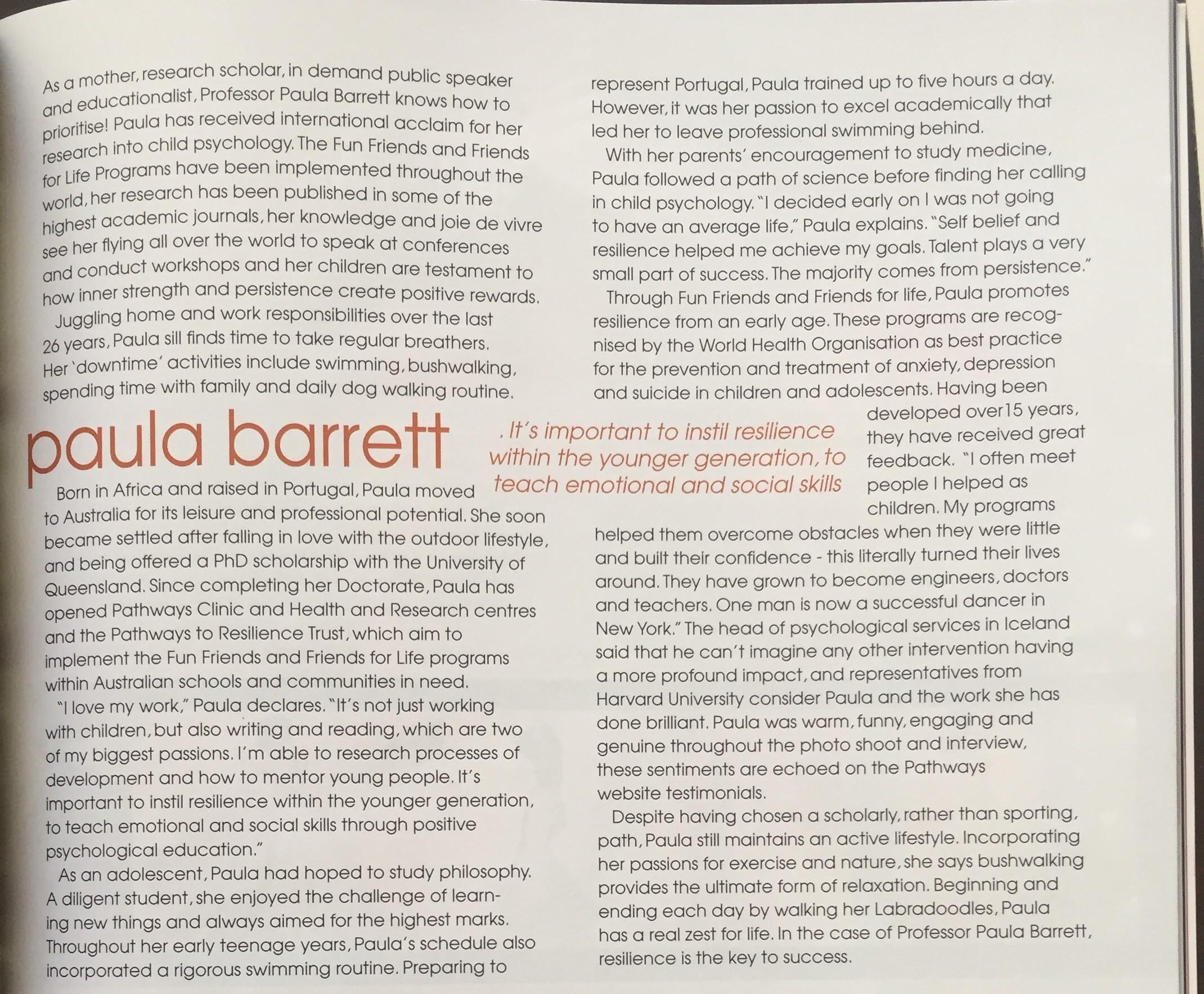 up magazine paula barrett