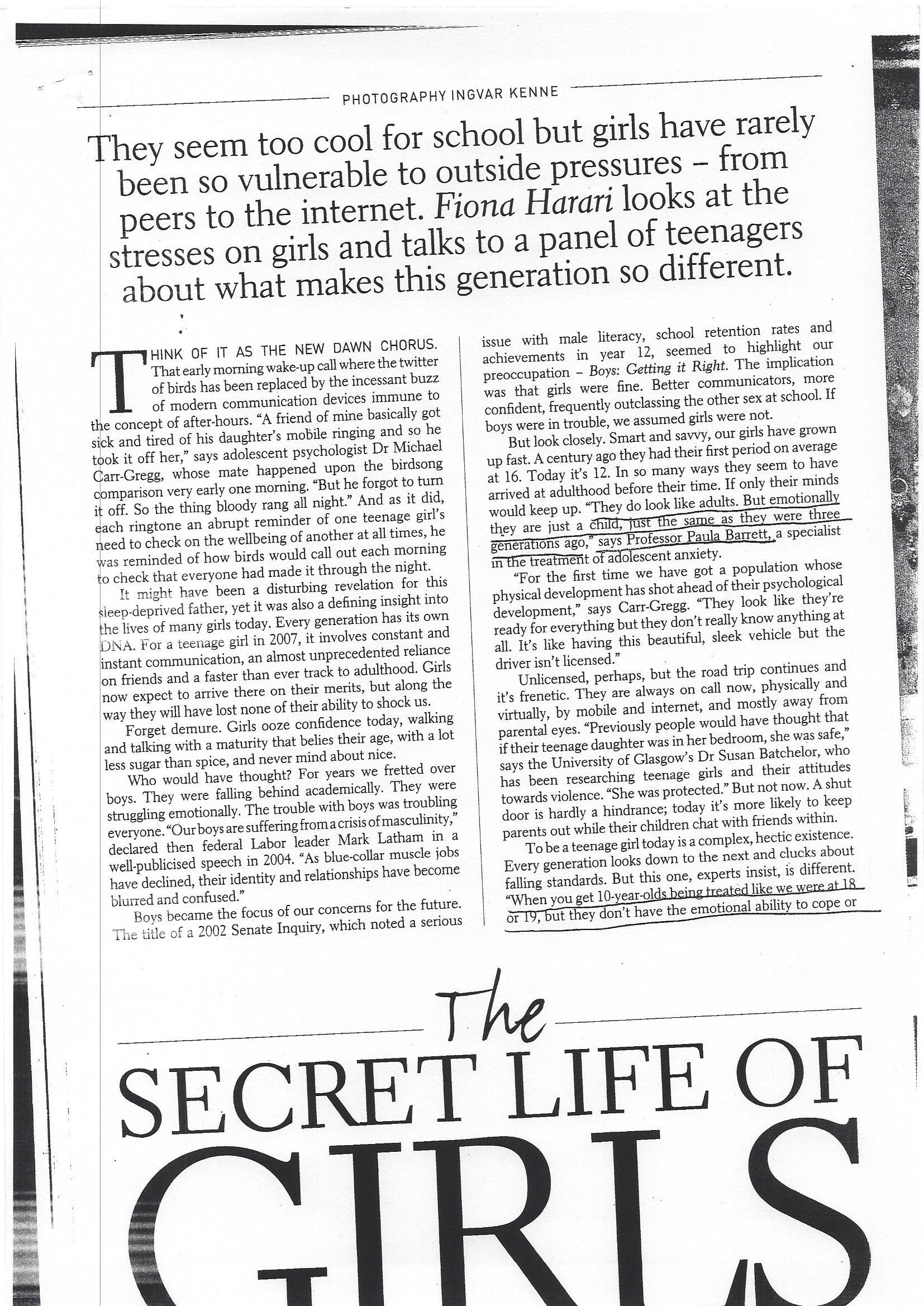 the secret life of girls