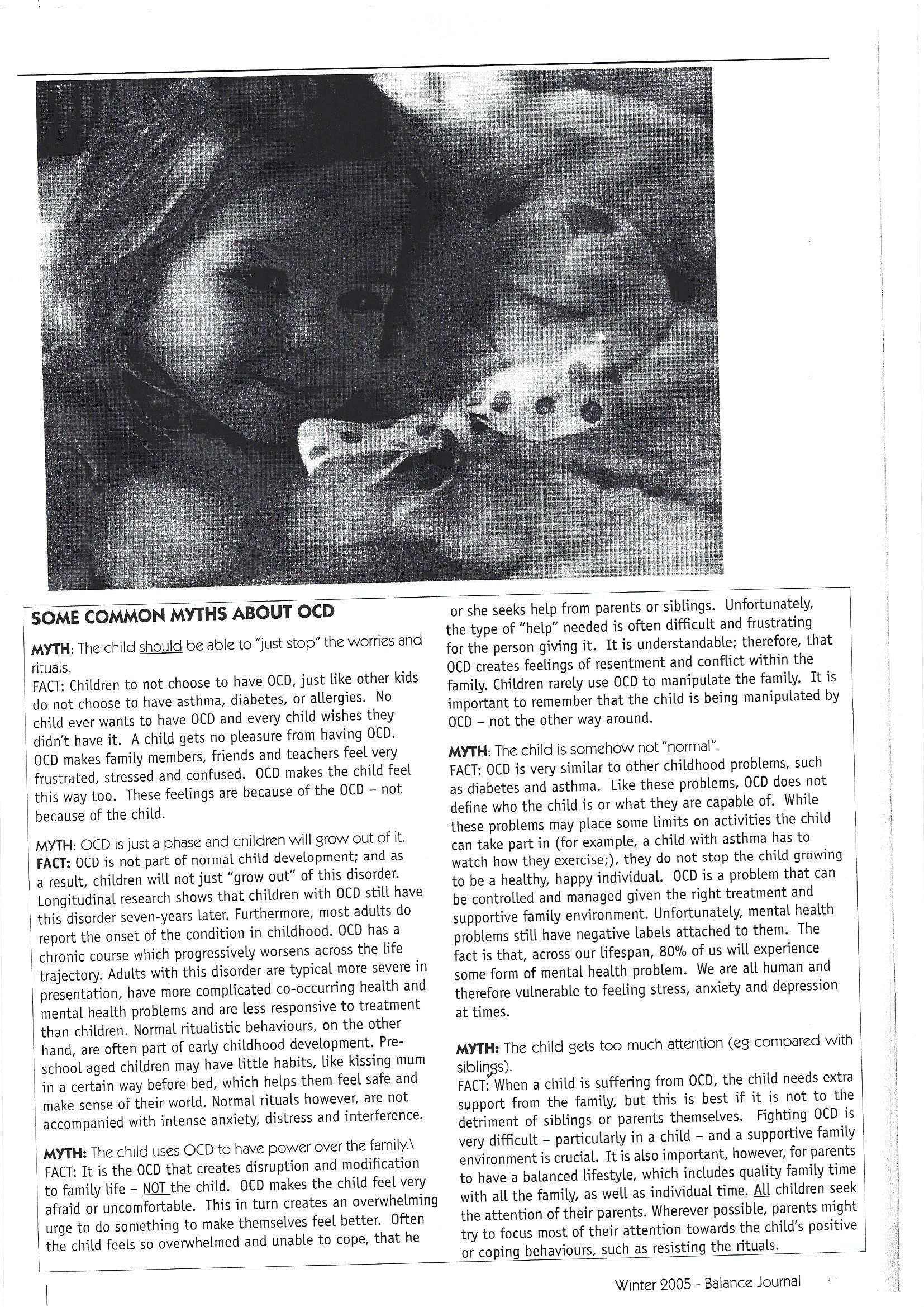family based treatment childhood OCD
