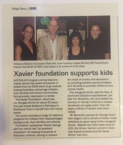 xavier foundation dr paula barrett